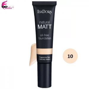 کرم پودر ایزادورا مدل Natural Matt oil free شماره 10