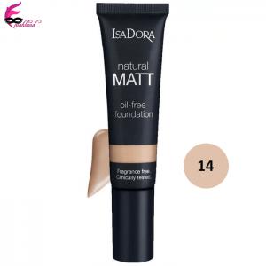کرم پودر ایزادورا مدل Natural Matt oil free شماره 14