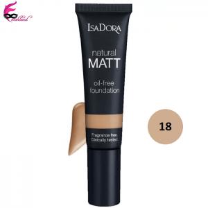 کرم پودر ایزادورا مدل Natural Matt oil free شماره 18